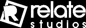 Relate Studios logo all white_300px