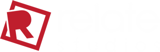 Relate Studios logo white text - Content Strategists Marketing Branding Trinidad & Tobago Caribbean